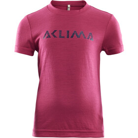 Aclima LightWool T-Shirt Kids, cerise